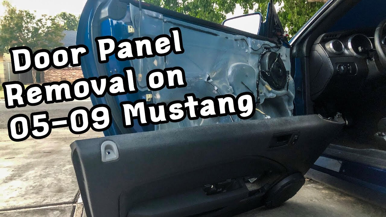 How To Remove And Install Door Panels On 05 09 Mustangs Youtube