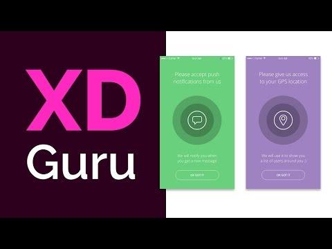 Adobe XD Tutorial - Simple Mobile UI/UX design - iOS screens