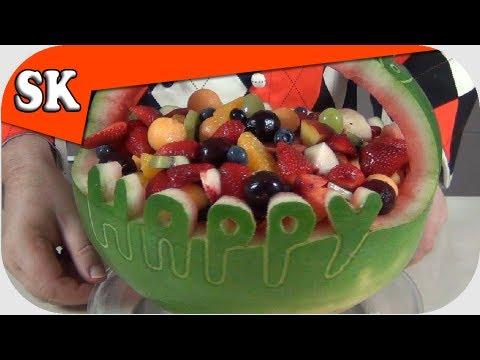 HEALTHY BIRTHDAY CAKE - LOW FAT Alternative Birthday Cake - Fruit Salad