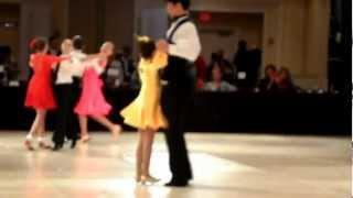 Raha Moshasha Kid Ballroom dance competition Foxtrot 2013