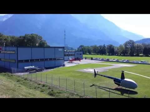 Helicopter take-off Balzers Heliport (LSXB)
