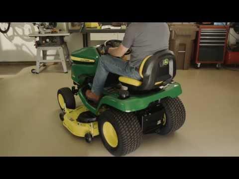 how-to-level-a-mower-deck- -john-deere-x300-&-x500-lawn-tractor-maintenance