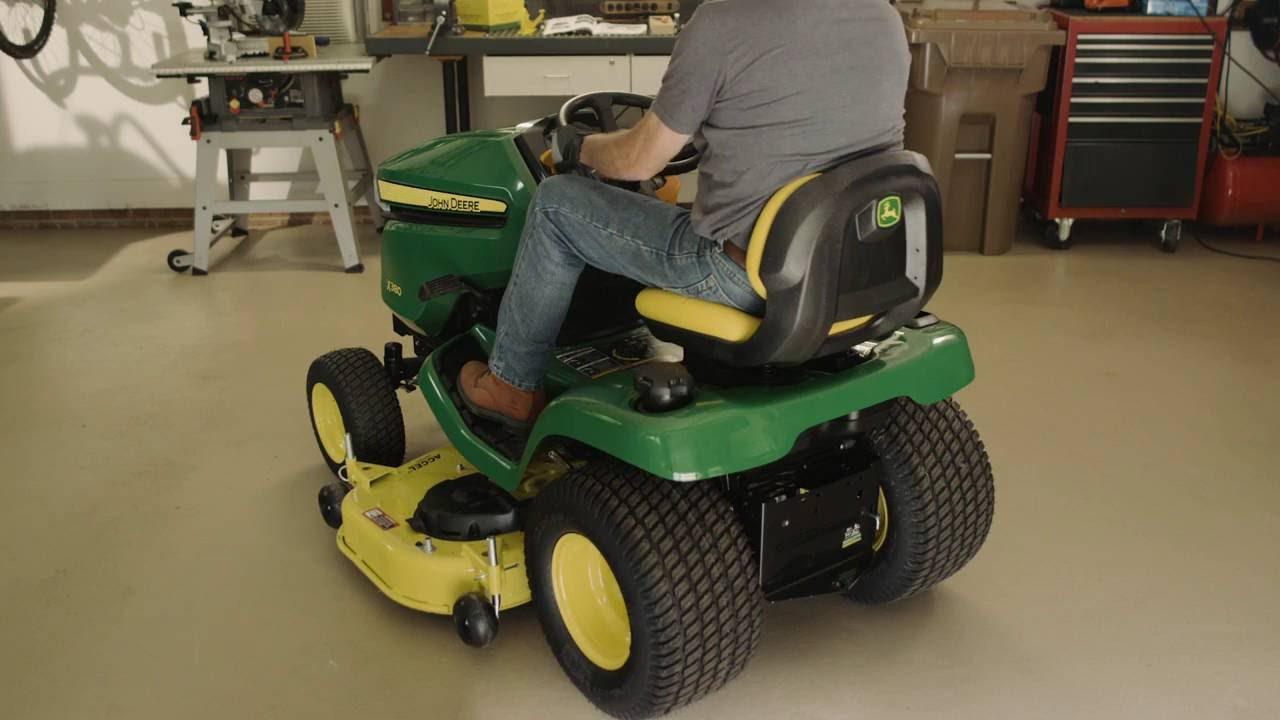 how to level a mower deck john deere x300 x500 lawn tractor maintenance youtube [ 1280 x 720 Pixel ]