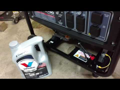 how to change oil in generator