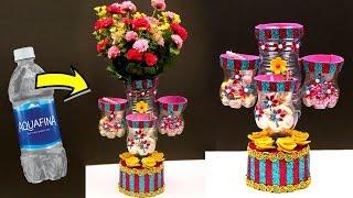 DIY Best out of waste plastic bottle crafts - Waste bottle craft organizer and vase idea 2018