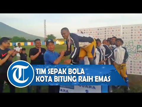 Raih Medali Emas, tim sepak bola Kota Bitung Bakal Terima Bonus