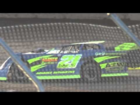 Plymouth Dirt Track Ted Dolhun wins Late Model Heat 1 May 2 2015