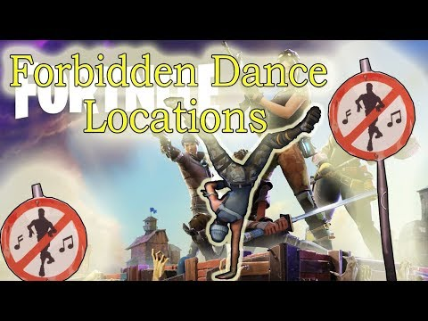 Dance in different forbidden locations ! 8 locations in Fortnite
