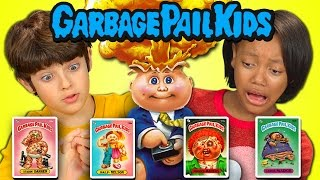 Kids React to Garbage Pail Kids (80s Retro Cards)