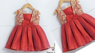 DIY Designer Attached Koti Baby Frock Cutting & Stitching Full Tutorial
