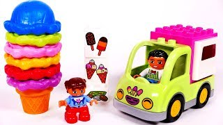 Ice Cream Truck Learn Colors for Children with Building Blocks Toys