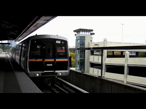 MARTA Ride From Dunwoody Station to Lindbergh Center Station