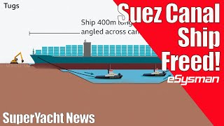 Suez Canal Trapped Ship Free at Last!