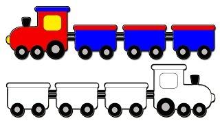 تعلم طريقة رسم قطار كرتون