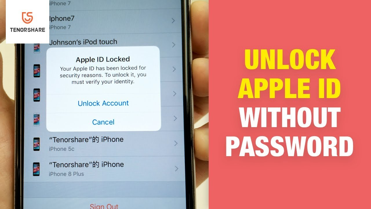 Apple ID Locked? How to Unlock Apple ID without Password, Rescue Email or Security Questions - YouTube