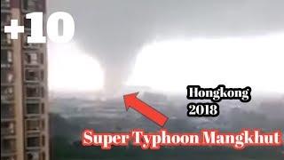 Super Typhoon Mangkhut memporak porandakan Hongkong 2018