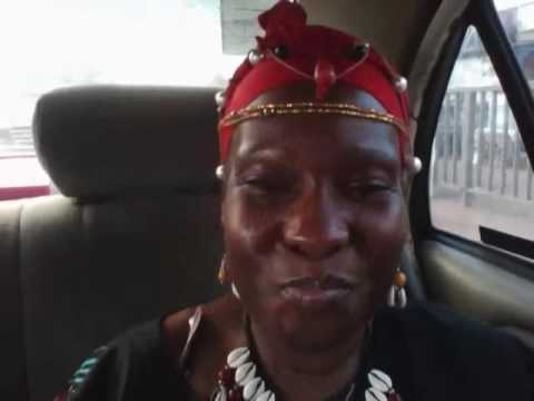 In car traveling to Alainas Wedding Ghana West Africa