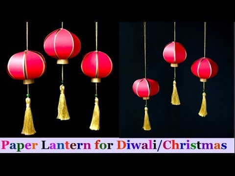 DIY-paper Lantern/Akash kandil step by step at Home | DIY Diwali/Christmas Decorations Ideas