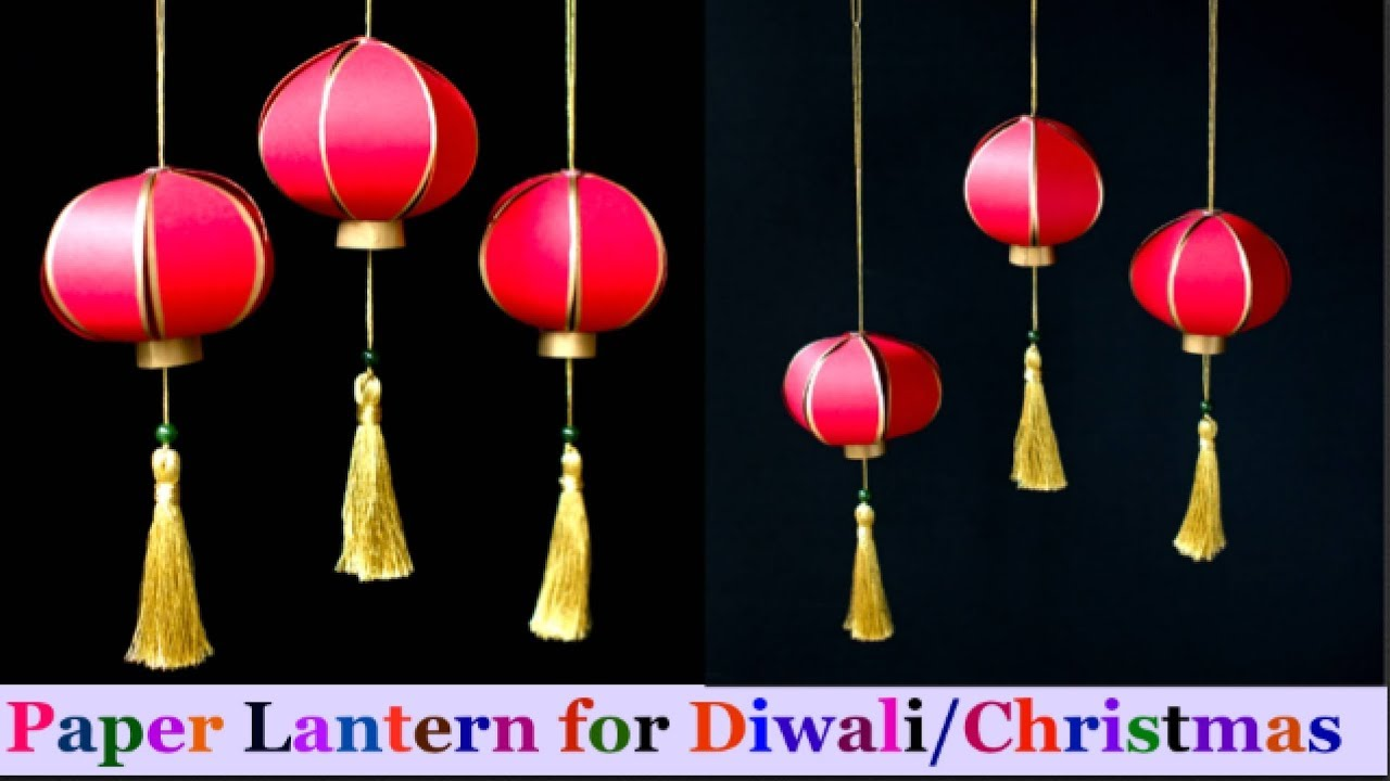 How To Make paper Lantern/akash kandil at Home | Diwali/Christmas ... for Make Chinese Paper Lantern  58lpg