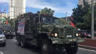 Philippine Marines and Navy Sailors Return Home After Marawi Crisis
