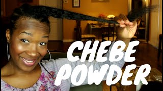 HOW TO: MIX & APPLY CHEBE POWDER & MIXED OILS TO RELAXED HAIR: LENGTH RETENTION