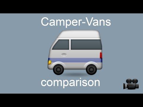CamperVans comparison for 2017 models