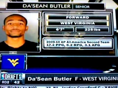 Dasean Butler (WVU) gets drafted!!! - YouTube
