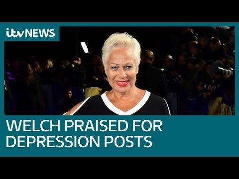 Denise Welch praised for documenting depression on Twitter   ITV News