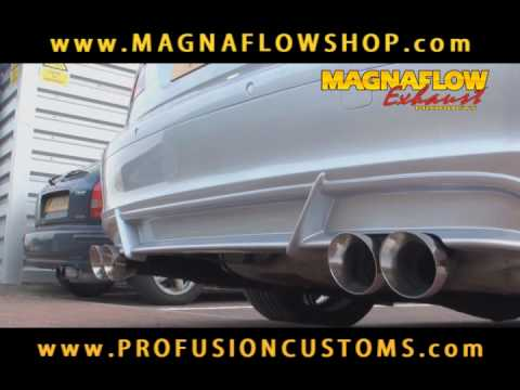 Magnaflow Custom Exhaust - BMW 750i True Dual Quad Exit System by Profusion Customs