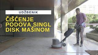 HBS No10 Čišćenje podova singl disk mašinom