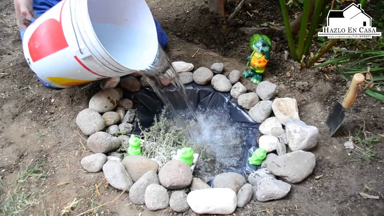 Hazlo en casa Vie15Mzo Como hacer un estanque en el jardn y