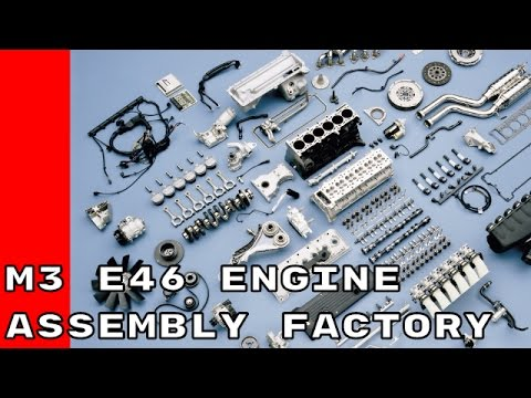 BMW M3 E46 3.2 Litre 6 cylinder engine assembly factory