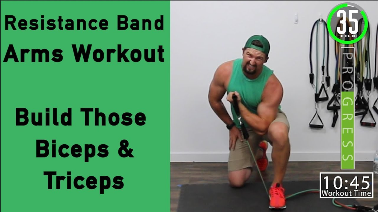 Resistance Band Arm Workout Build Your Biceps And Triceps