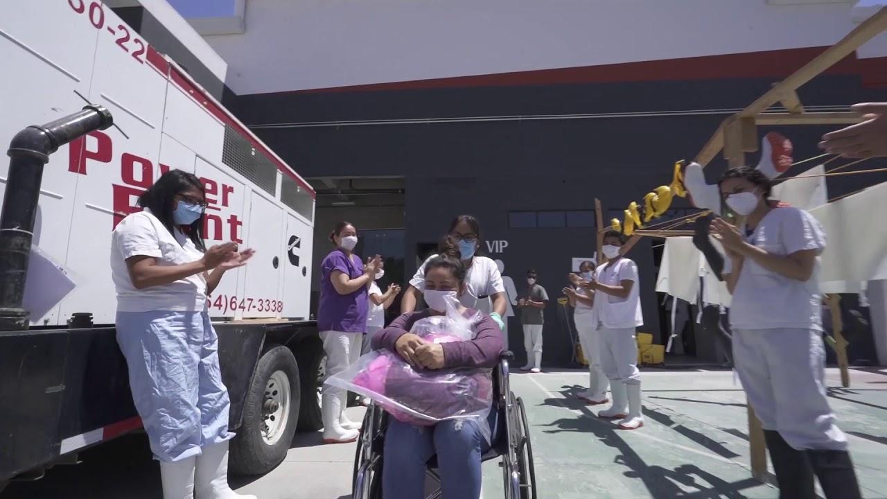 Paciente de COVID-19 dada de alta en Tijuana
