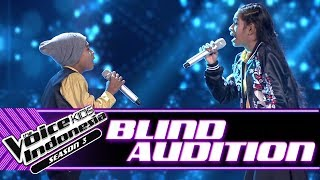 Jeni & Joni Kase - Ingin Ku Miliki | Blind Auditions | The Voice Kids Indonesia Season 3 GTV 2018
