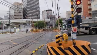 梅田貨物線 287系 特急くろしお 22号 西梅田一番踏切通過