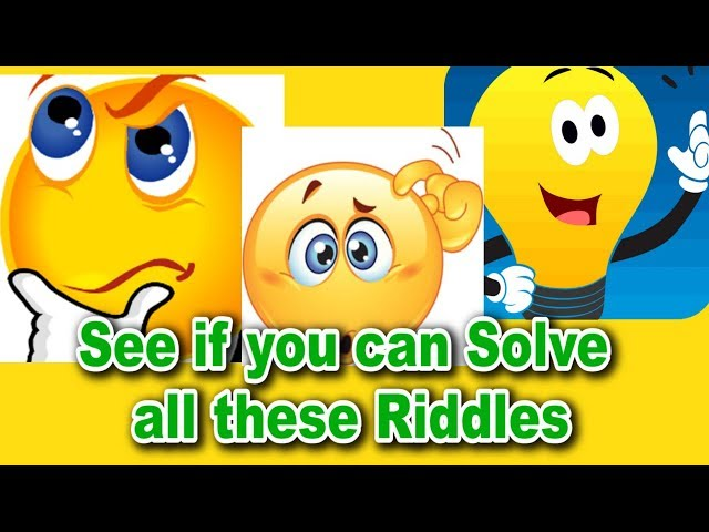 See if you can Solve all these Riddles l  It Takes Genius