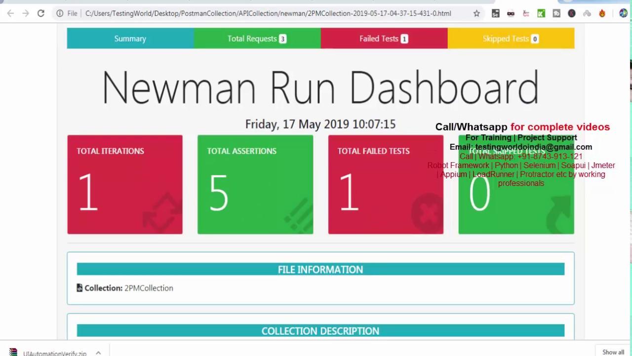 Postman : Generate Advance HTML Report