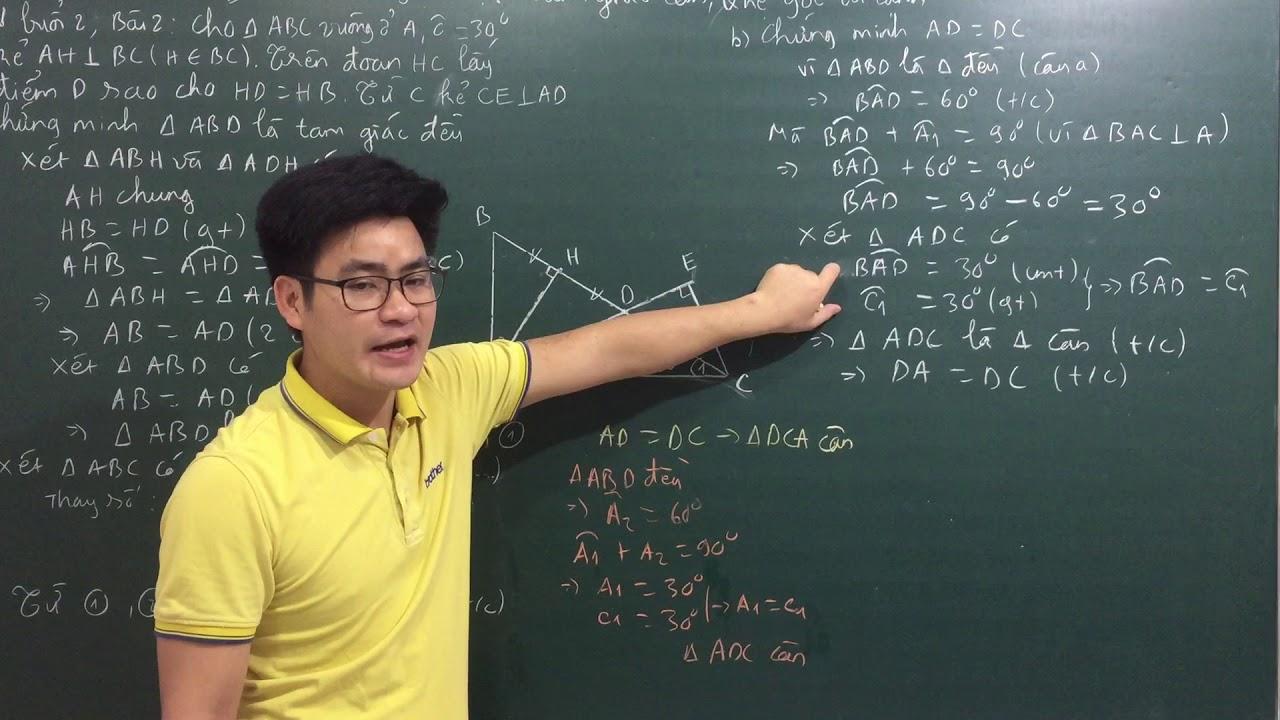 Buổi 6: luyện tập tam giác cân, quan hệ góc và cạnh số 3 _ Lớp 7