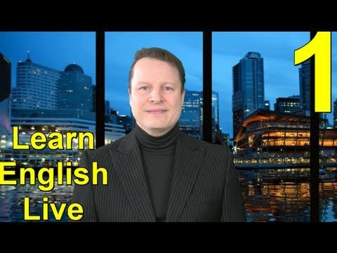 Learn English Live with Steve Ford  Lesson One