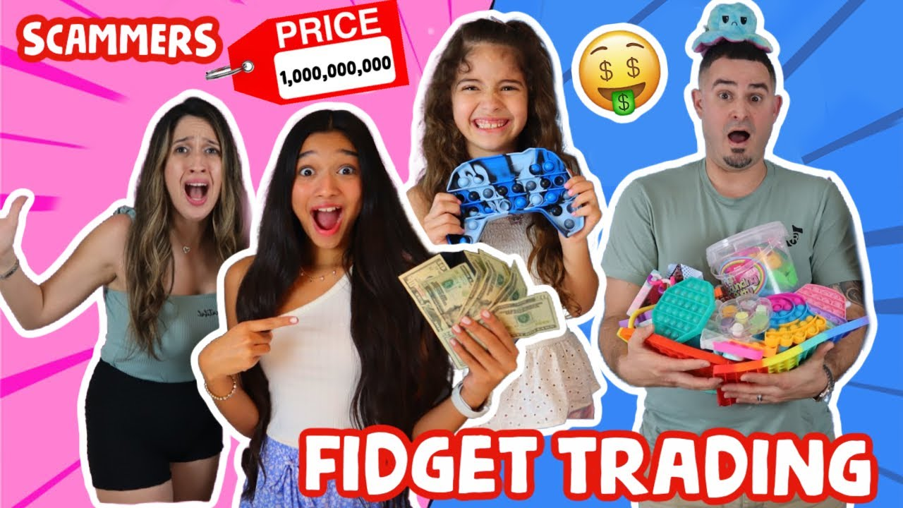 FIDGET TRADING ON A GIANT BOARD WITH A GIANT FIDGET POP IT TOY! THEY SCAMMED US!🤭😡❌