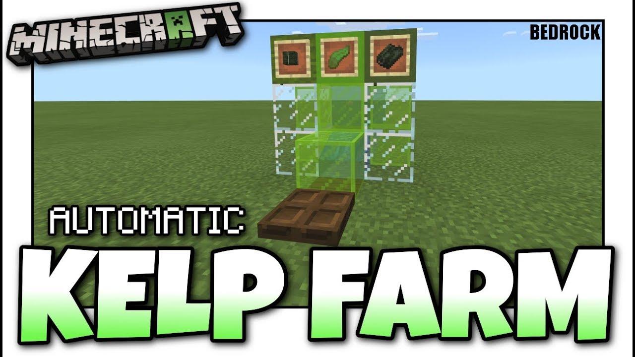 Minecraft Bedrock Tiny Kelp Farm Automatic Tutorial Ps4 Mcpe Xbox Windows Switch Youtube