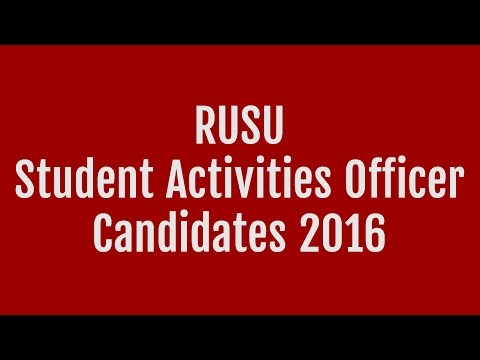Student Activities Officer @ Candidates' Question Time 2016