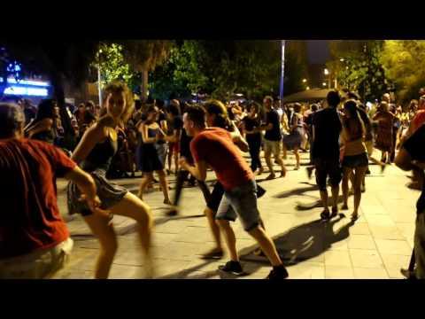 Dancing on La Barceloneta