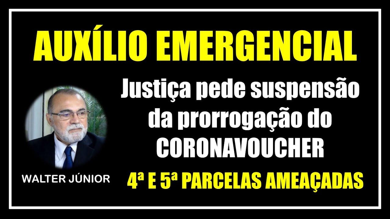JUSTIÇA PEDE A SUSPENSÃO DA PRORROGAÇÃO DO AUXÍLIO EMERGENCIAL - MINISTÉRIO PÚBLICO E TCU