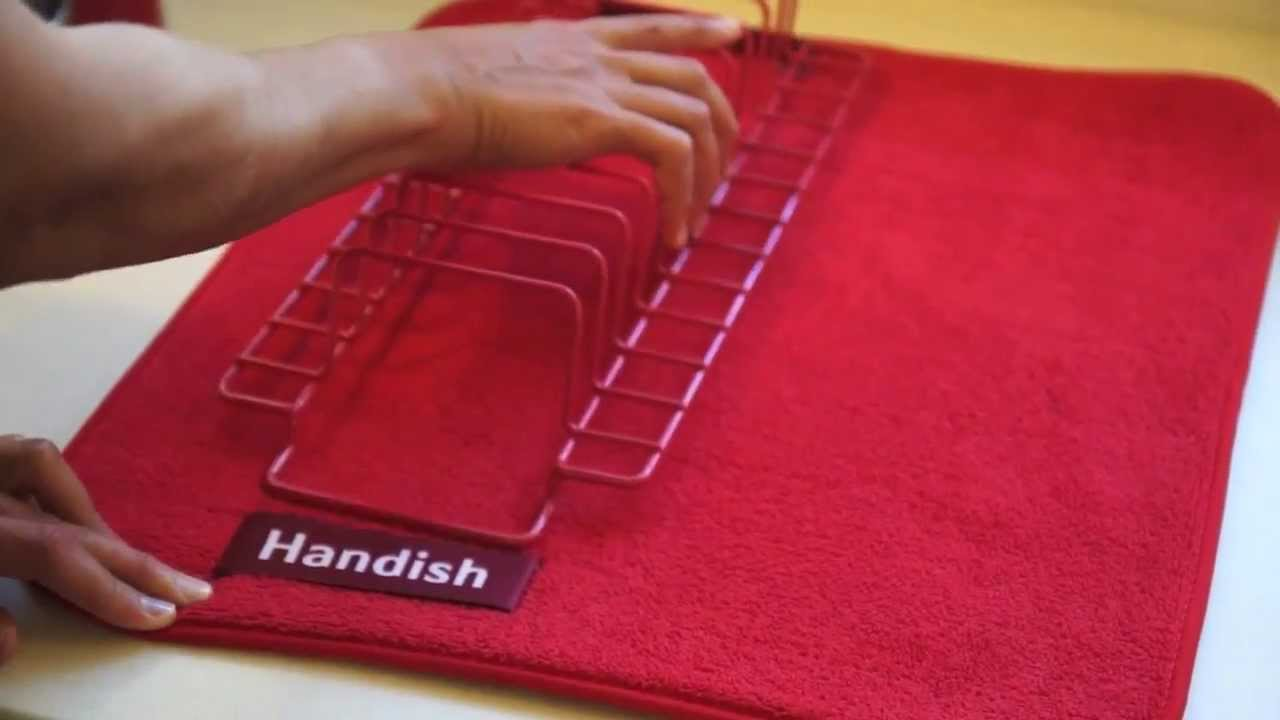 Handish Dish Drying Mat Youtube