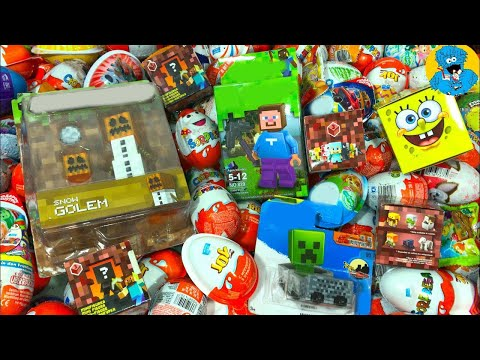 Киндер Сюрпризы,A Lot Of Candy and Kinder Surprise Eggs Майнкрафт,Minecraft,Губка Боб,РИО