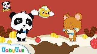 Whiskers' Şeker Dişleri Çocuklar | BabyBus için Çocukların İyi Alışkanlıklar | Resim Kitap Karikatür |