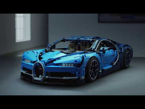 LEGO Technic 42083 Bugatti Chiron Sports Car Model – LEGO Technic Features and Functions Video