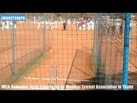 Mumbai cricket Selection Trials Conducted Mumbai Cricket Association In Thane